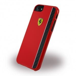 Ferrari - Paddock Glossy Carbon - Hardcover / Case / Handyhülle - Apple iPhone 7 / 8 - Rot