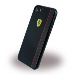 Ferrari - FECBSHCP7BK Paddock Glossy Carbon - Hardcover / Case / Handyhülle - Apple iPhone 7 - Schwarz