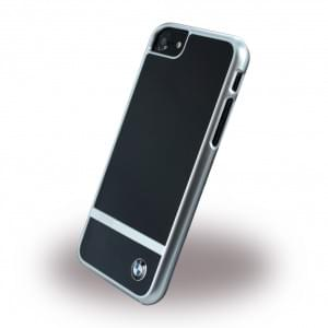 BMW - BMHCP7ASBK - Aluminium Stripe - Hardcover / Case / Handyhülle - Apple iPhone 7 - Schwarz