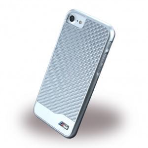 BMW - BMHCP7MDCS - M-Sport Carbon Fiber - Hardcover / Case / Handyhülle - Apple iPhone 7 - Silber