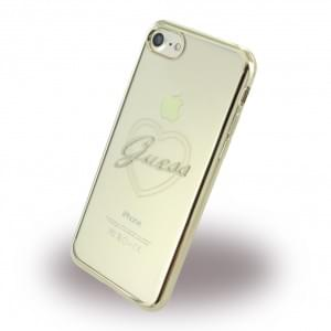 Guess - Heart TPU Cover / Silikon Case / Schutzhülle - Apple iPhone 7 / 8 - Gold