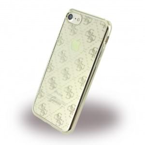 Guess - 4G GUHCP7TR4GG - TPU Cover / Silikon Case / Schutzhülle - Apple iPhone 7 - Gold