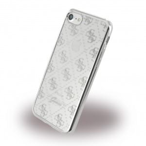 Guess TPU Cover / Silikon Case / Schutzhülle - Apple iPhone 7 / 8 - Silber