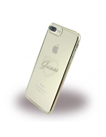 Guess - Heart GUHCP7LTRHG - TPU Cover / Silikon Case / Schutzhülle - Apple iPhone 7 Plus - Gold
