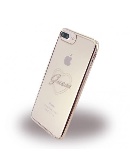 Guess - Heart GUHCP7LTRHRG - TPU Cover / Silikon Case / Schutzhülle - Apple iPhone 7 Plus - Rose Gold