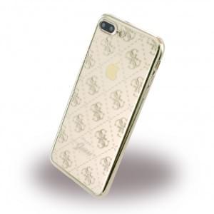 Guess - 4G GUHCP7LTR4GG - TPU Cover / Silikon Case / Schutzhülle - Apple iPhone 7 Plus - Gold