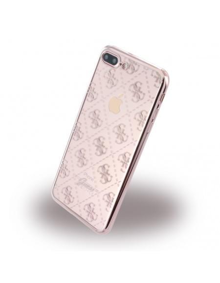 Guess - 4G GUHCP7LTR4GRG - TPU Cover / Silikon Case / Schutzhülle - Apple iPhone 7 Plus - Rose Gold