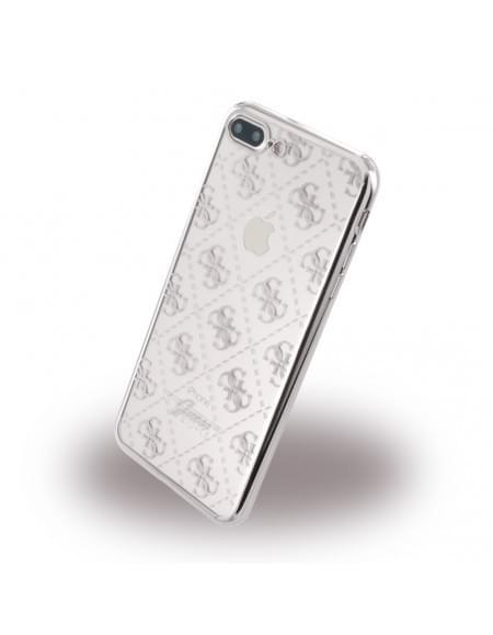 Guess - 4G GUHCP7LTR4GSI - TPU Cover / Silikon Case / Schutzhülle - Apple iPhone 7 Plus - Silber
