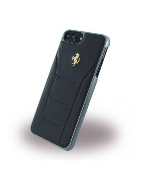 Ferrari - 488 Gold FESEGHCP7LBK - Leder Hardcover / Hülle / Handyhülle - Apple iPhone 7 Plus - Schwarz