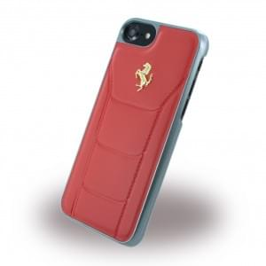 Ferrari - 488 Gold FESEGHCP7RE - Leder Hardcover / Hülle / Handyhülle - Apple iPhone 7 - Rot