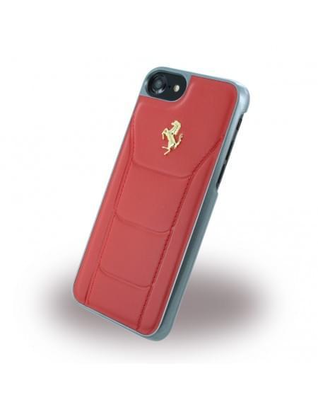 Ferrari - 488 Gold FESEGHCP7RE - Leder Hardcover / Hülle / Handyhülle - Apple iPhone 7 - Rot