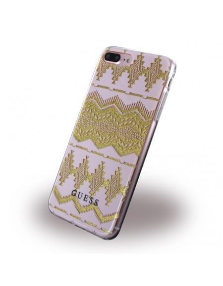 Guess - 3D Effect Aztec Tribal GUHCP7LTGPI - Silikon Cover / Handyhülle - Apple iPhone 7 Plus - Light Pink