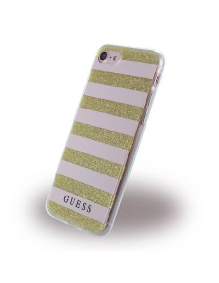 Guess - 3D Effect Stripes Tribal GUHCP7STGPI - Silikon Cover / Schutzhülle - Apple iPhone 7 - Light Pink