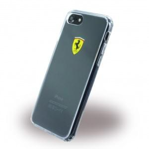 Ferrari - Racing Shield Silikon Cover / Handyhülle / Schutzhülle - Apple iPhone 7 / 8 - Transparent