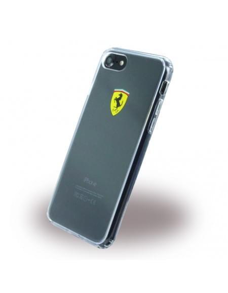 Ferrari - Racing Shield FEHCP7TR1 - Silikon Cover / Handyhülle / Schutzhülle - Apple iPhone 7 - Transparent