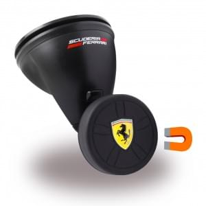 Ferrari - FEBCHBK - Magnetischer KFZ Handyhalter / Auto Halterung mit Saugnapf - Schwarz
