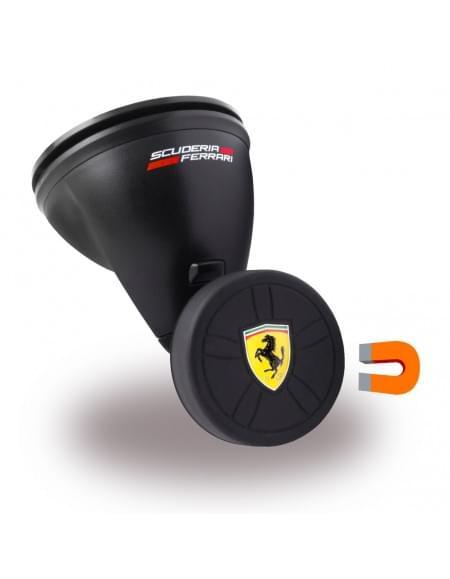 Original Ferrari - FEBCHBK - Magnetischer KFZ Handyhalter / Auto Halterung mit Saugnapf - Schwarz