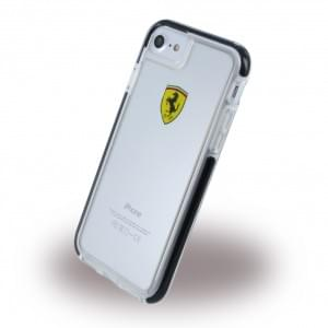 Ferrari - Racing Shockproof Hardcover für Apple iPhone 7 / 8 - Transparent / Schwarz
