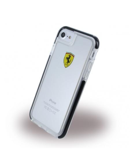 Ferrari - Racing Shockproof FEGLHCP7BK - Hardcover / Handyhülle / Schutzhülle - Apple iPhone 7 - Transparent / Schwarz