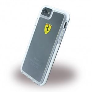 Ferrari - Racing Shockproof Hardcover / Handyhülle / Schutzhülle - Apple iPhone 7 / 8 - Transparent
