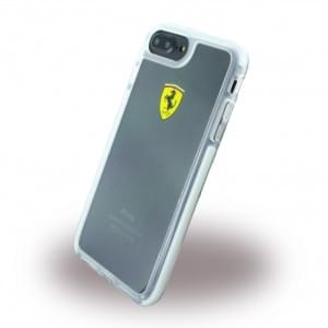 Ferrari - Racing Shockproof Hardcover / Handyhülle / Schutzhülle - Apple iPhone 8 Plus / 7 Plus - Transparent