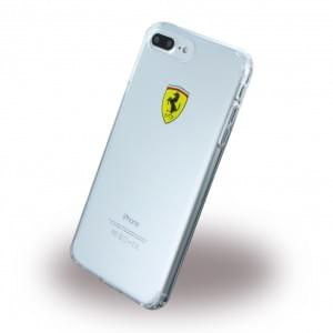 Ferrari - Racing Shield Silikon Cover / Handyhülle / Schutzhülle - Apple iPhone 8 Plus / 7 Plus - Transparent