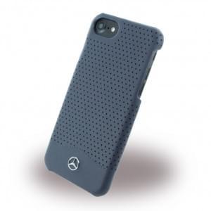 Mercedes Benz - Perforated-Wave II - MEHCP7CSPENA - Hardcover / Schutzhülle mit gelochtem Leder - Apple iPhone 7 - Blau