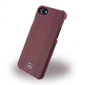 Mercedes Benz - Perforated-Stripes II - MEHCP7PEVSRE - Hardcover / Schutzhülle mit gelochtem Leder - Apple iPhone 7 - Rot