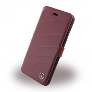Mercedes Benz - Organic I Leder Book Cover / Handytasche - Apple iPhone 7 / 8 - Rot