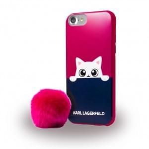 Karl Lagerfeld - KLHCP7PABPI K-Peek A Boo - Glitter Silikon Cover / Schutzhülle - Apple iPhone 7 - Pink