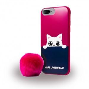 Karl Lagerfeld - KLHCP7LPABPI K-Peek A Boo - Glitter Silikon Cover / Schutzhülle - Apple iPhone 7 Plus - Pink