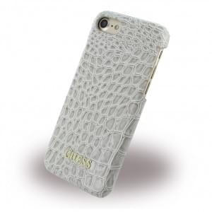 Guess - Shiny Croco Hard Cover / Case / Schutzhülle - Apple iPhone 7 / 8 - Beige