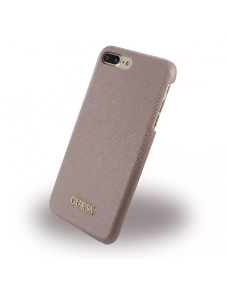 Guess - Saffiano GUHCP7LTRO - Hard Cover / Case / Schutzhülle - Apple iPhone 7 Plus - Pink