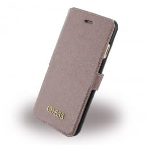 Guess - Saffiano Book Cover / Handytasche - Apple iPhone 7 / 8 - Pink