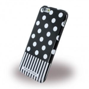 Trussardi - TRU6POIS Pois - Silikon Cover / Handyhülle - Apple iPhone 6, 6S - Schwarz