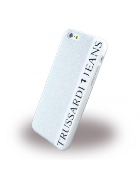 Original Trussardi - TRU6GLITTERS Glitter - Silikon Cover / Handyhülle - Apple iPhone 6, 6S - Silber