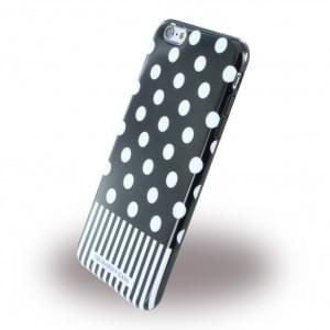 Trussardi - TRU6PPOIS Pois - Silikon Cover / Handyhülle - Apple iPhone 6 Plus, 6s Plus - Schwarz