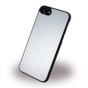 Trussardi iPhone SE 2020 / iPhone 8 / 7 Metall Hardcover / Handyhülle Silber