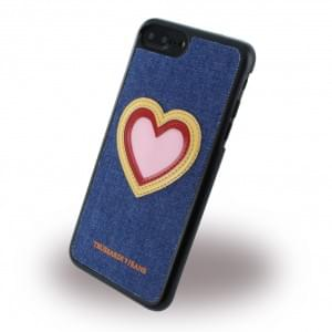 Trussardi Hardcover / Handyhülle - Apple iPhone 8 Plus / 7 Plus - Heart Jeans