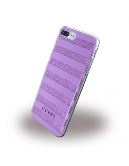Guess - 3D Effect Stripes Tribal GUHCP7LSTGPU - Silikon Cover / Schutzhülle - Apple iPhone 7 Plus - Lila