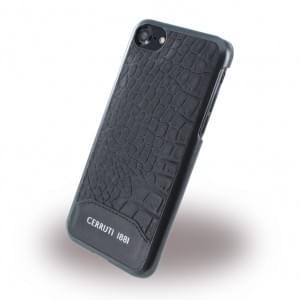 Cerruti 1881 - CEHCP7MCBK - Crocodile Print - Kunstleder Hardcase / Hardcover - Apple iPhone 7 - Schwarz