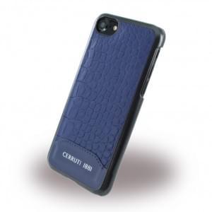 Cerruti 1881 iPhone SE 2020 / iPhone 8 / 7 Crocodile Print Hardcase / Harcover Navy Blau