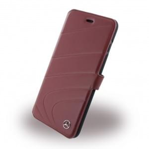Mercedes Benz - Organic I - MEFLBKP7LCLRE - Leder Book Cover - Apple iPhone 7 Plus - Rot