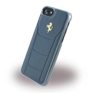 Ferrari - 488 Gold FESEGHCP7BL - Leder Hardcover - Apple iPhone 7 - Blau