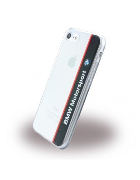 BMW - Motorsport BMHCP7TVNA - Silikon Cover - Apple iPhone 7 - Transparent Navy