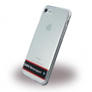 BMW - Motorsport Silikon Cover - Apple iPhone 7 / 8  - Transparent Navy