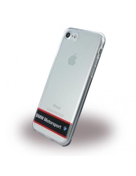 BMW - Motorsport BMHCP7TRHNA - Silikon Cover - Apple iPhone 7 - Transparent Navy