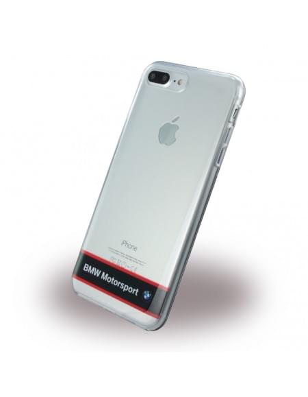 BMW - Motorsport BMHCP7LTRHNA - Silikon Cover - Apple iPhone 7 Plus - Transparent Navy