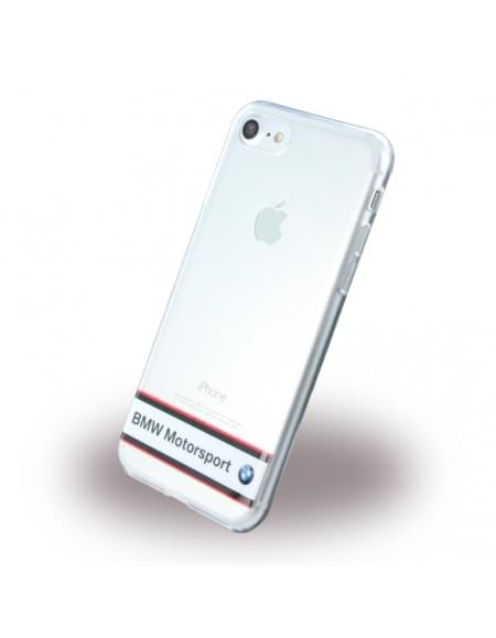 BMW - Motorsport BMHCP7TRHWH - Silikon Cover - Apple iPhone 7 - Weiss