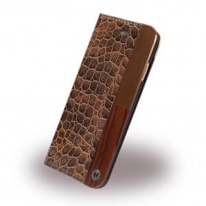 Uunique - Lux Croc Book Cover - Apple iPhone 7 / 8 - Dunkel Braun